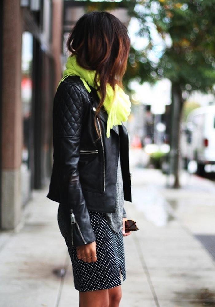 A Touch Of Lime And A Leather Jacket