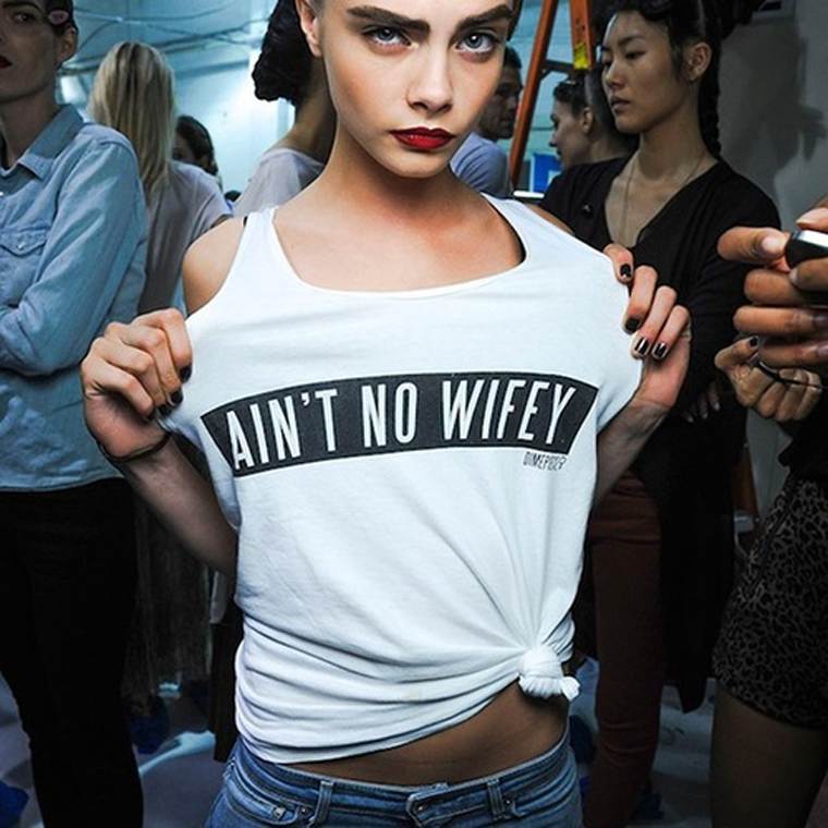 """Ain't No Wifey"" Top Worn By Cara Delevingne"