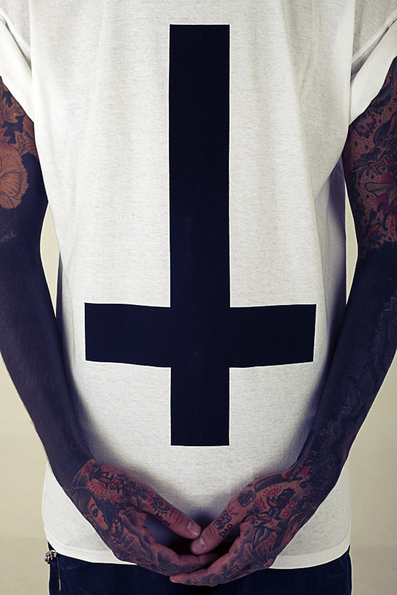Inverted Cross T Shirt By Unknown Fashion Designer