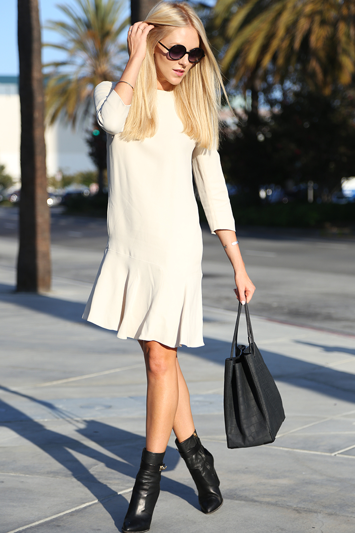 Shea Marie Wearing Crepe Sable Dress By Chloe and Givenchy Bag