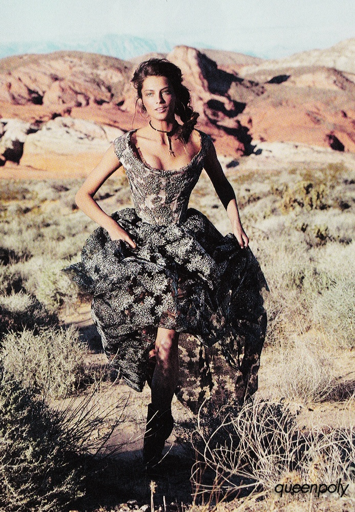 Dress Worn By Daria Werbowy In Vogue Paris February 2012