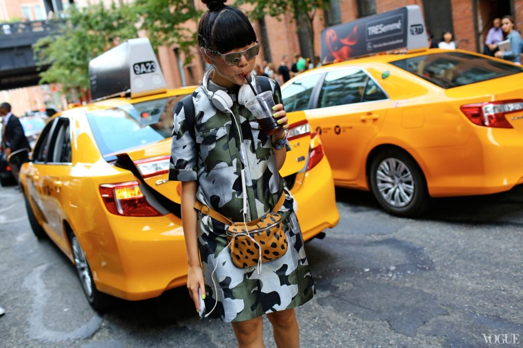 Street Fashion Photography Susie Lau shot by Phil Oh for Vogue