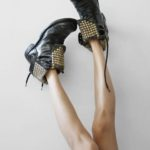 Bess N.Y.C Hot Studded Combat Boots