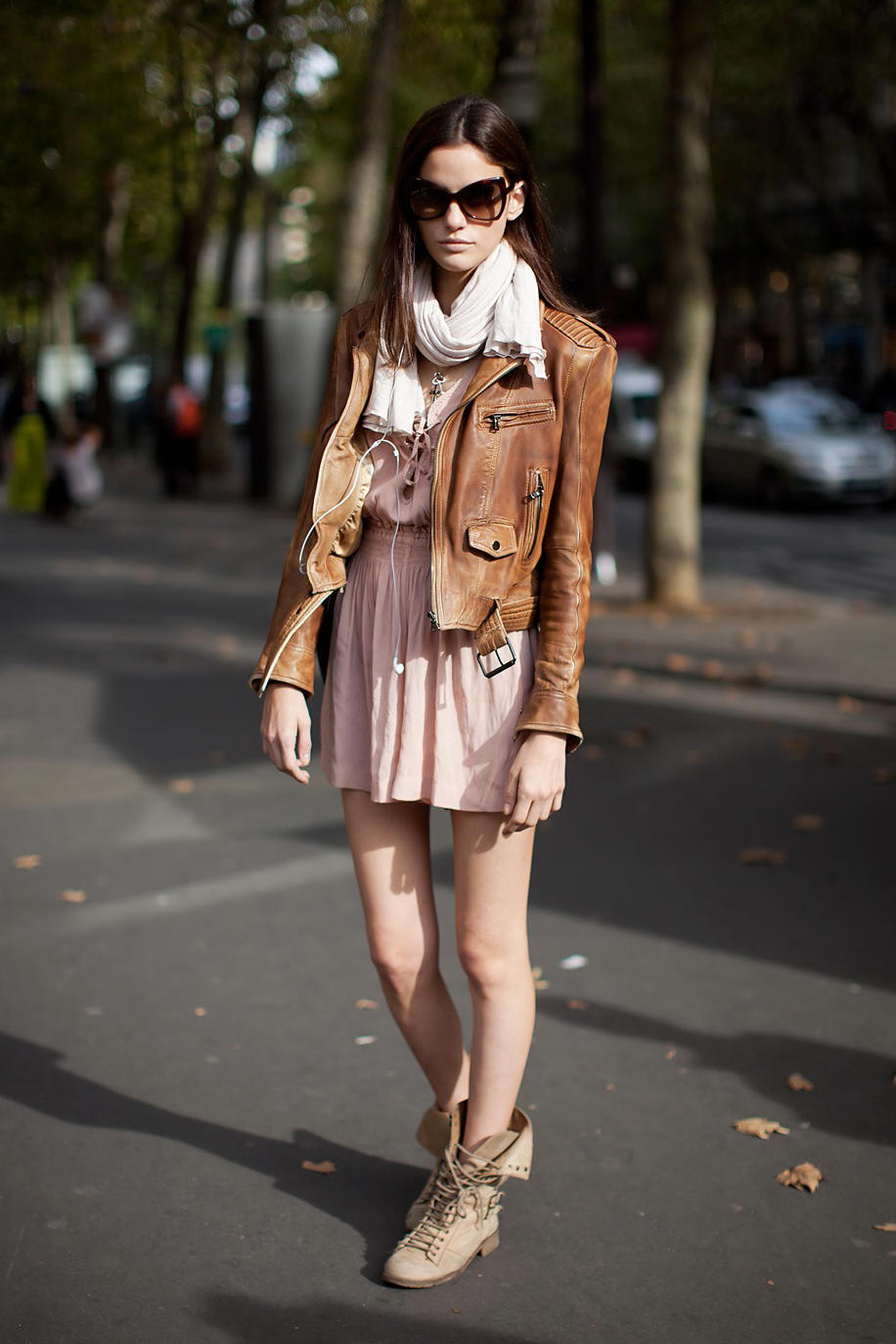Dress And Combat Boots Via Stockholm Street Style