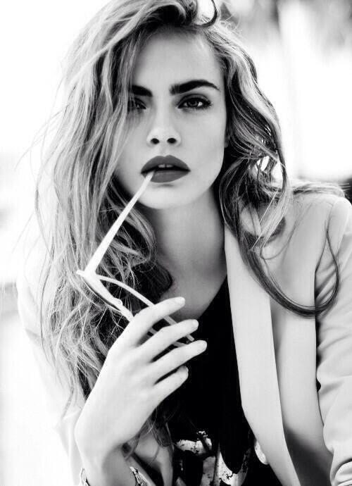 Cara Delevingne Black & White Photography