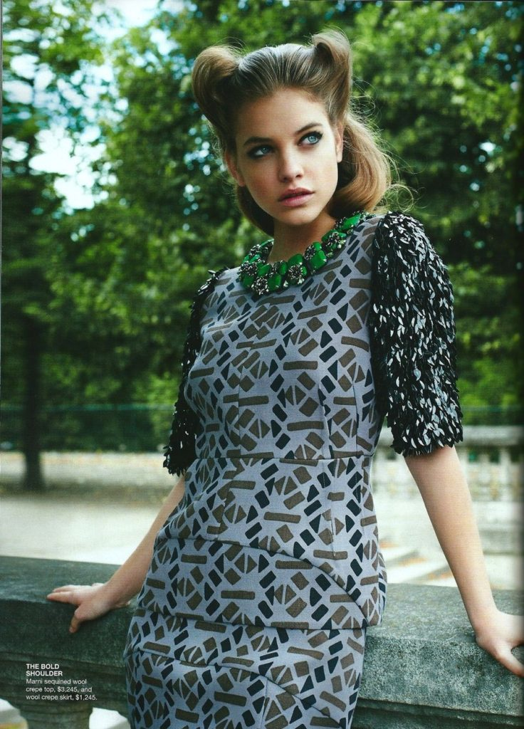 Beautiful Barbara Palvin Photography By Eric Guillemain Vogue Australia September 2011 Dress By Marni