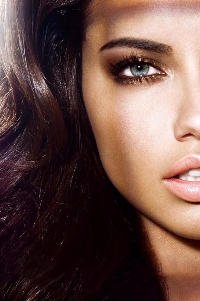 Adriana Lima Head Shot For The Victoria's Secret Campaign