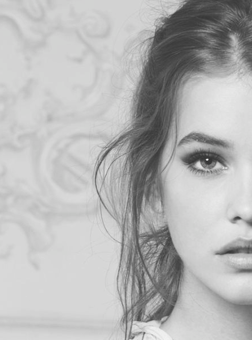 Barbara Palvin Black & White Head Shot Photography