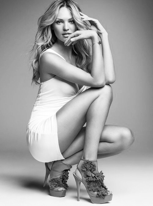 Candice Swanepoel White Dress