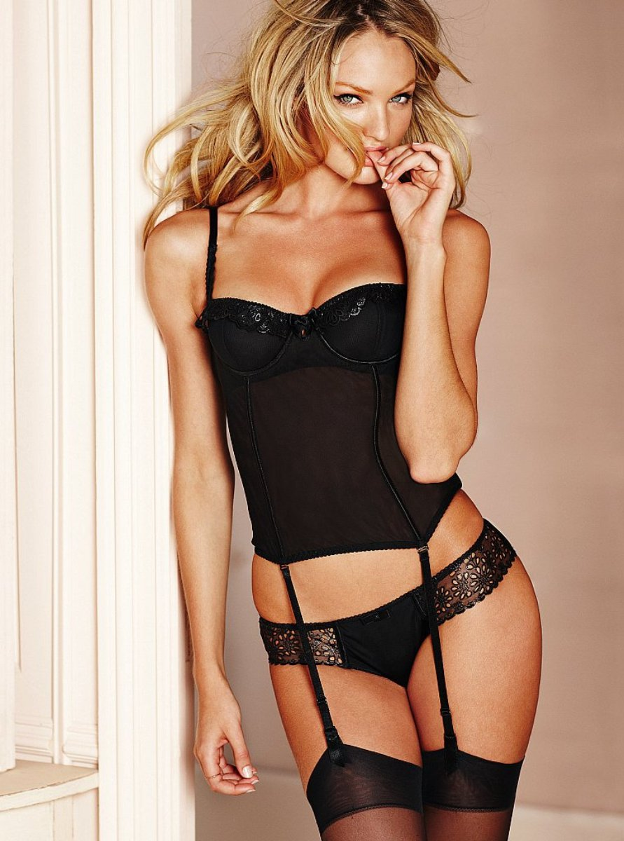 South African Model Candice Swanepoel For Victoria's Secret Lingerie In 2011