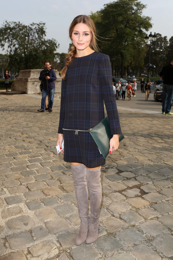 Olivia Palermo Street Style Here In Stuart Weitzman Highland Boots
