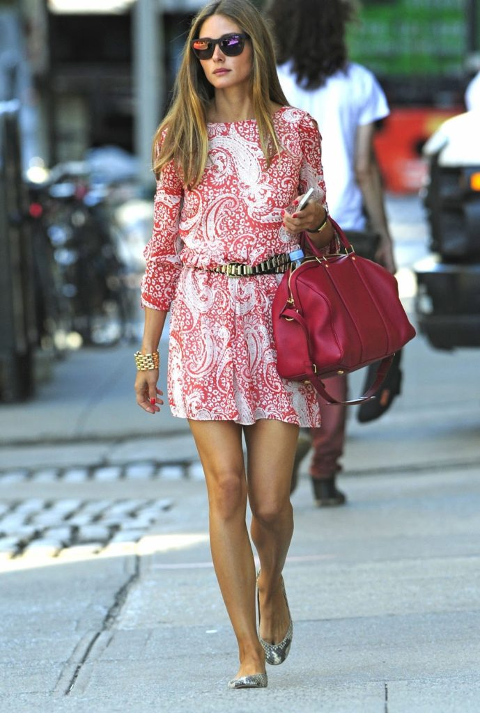 Cute Olivia Palermo In Skater Dress