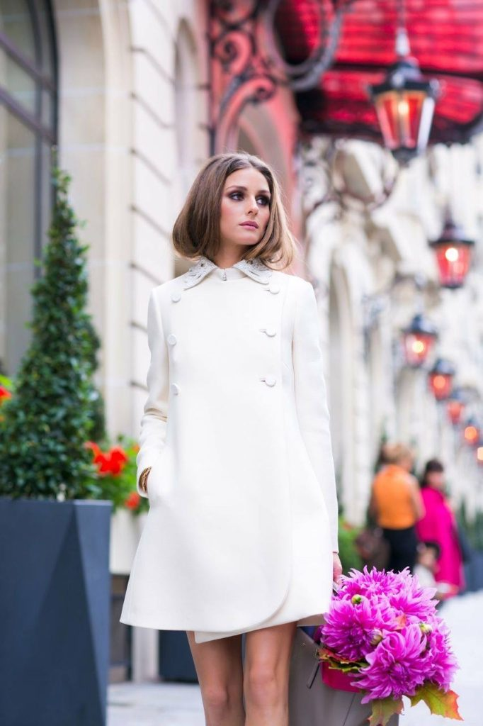 Model Olivia Palermo Street Style In Paris