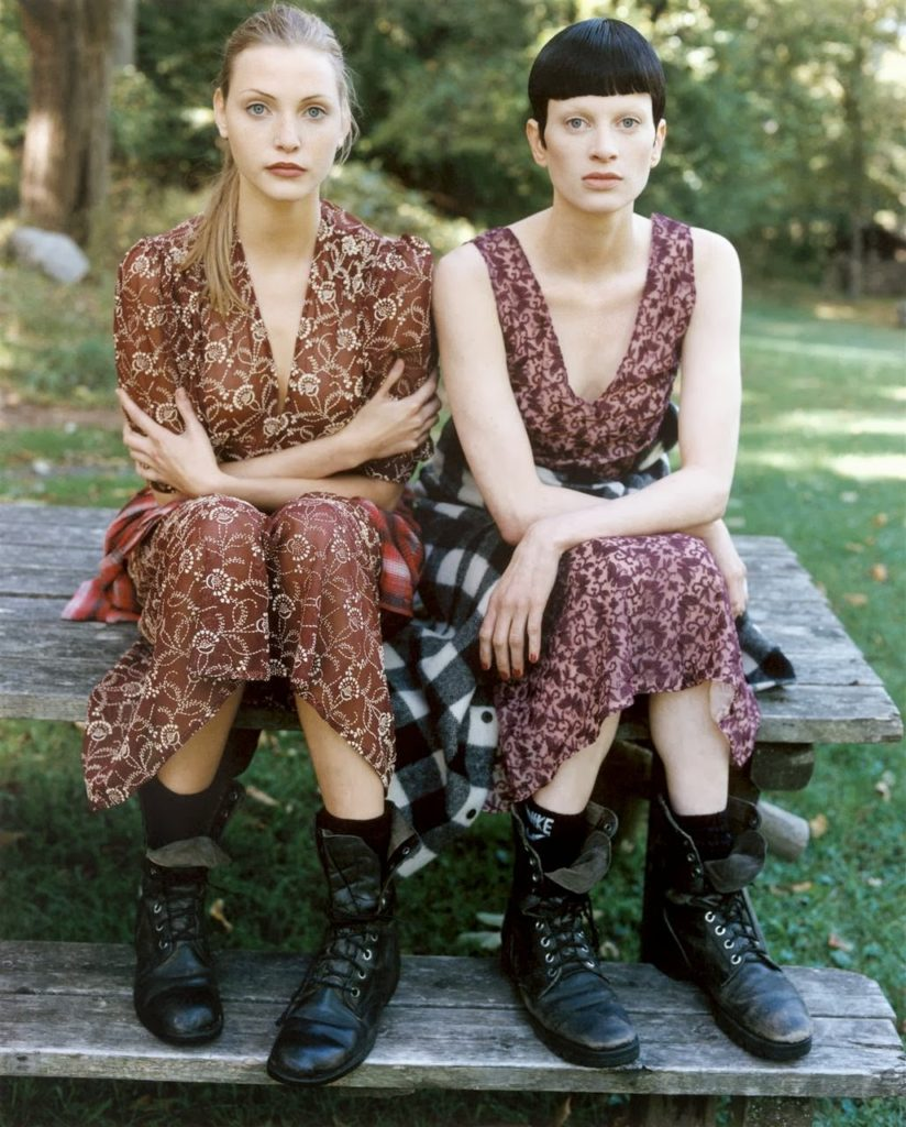 Grunge and Glory Collection In Vogue US December 1992 By Steven Meisel with Kristen McMenamy and Nadja Auermann