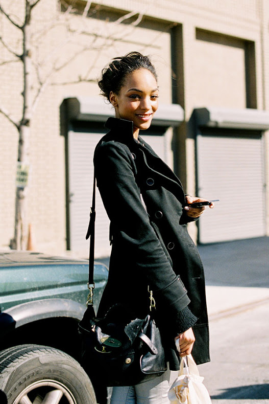 Model Jourdan Dunn At New York Fashion Week AW 2012/2013