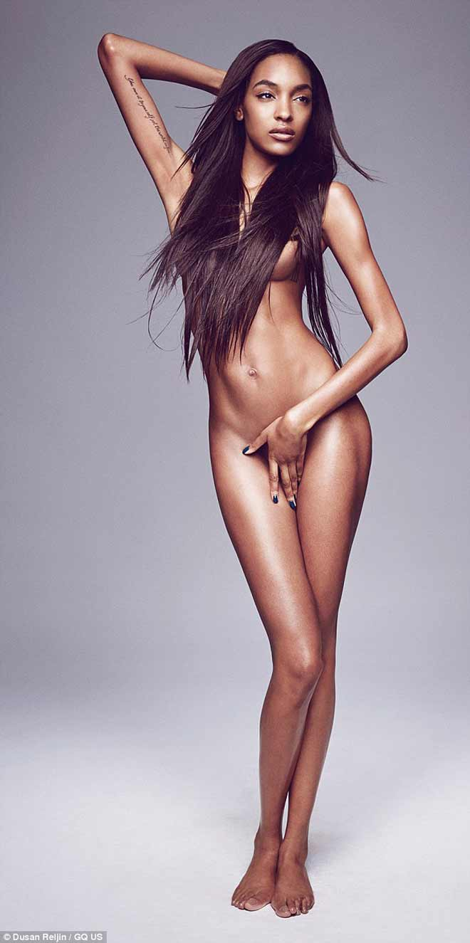 Model Jourdan Dunn Naked For GQ September 2013 Issue