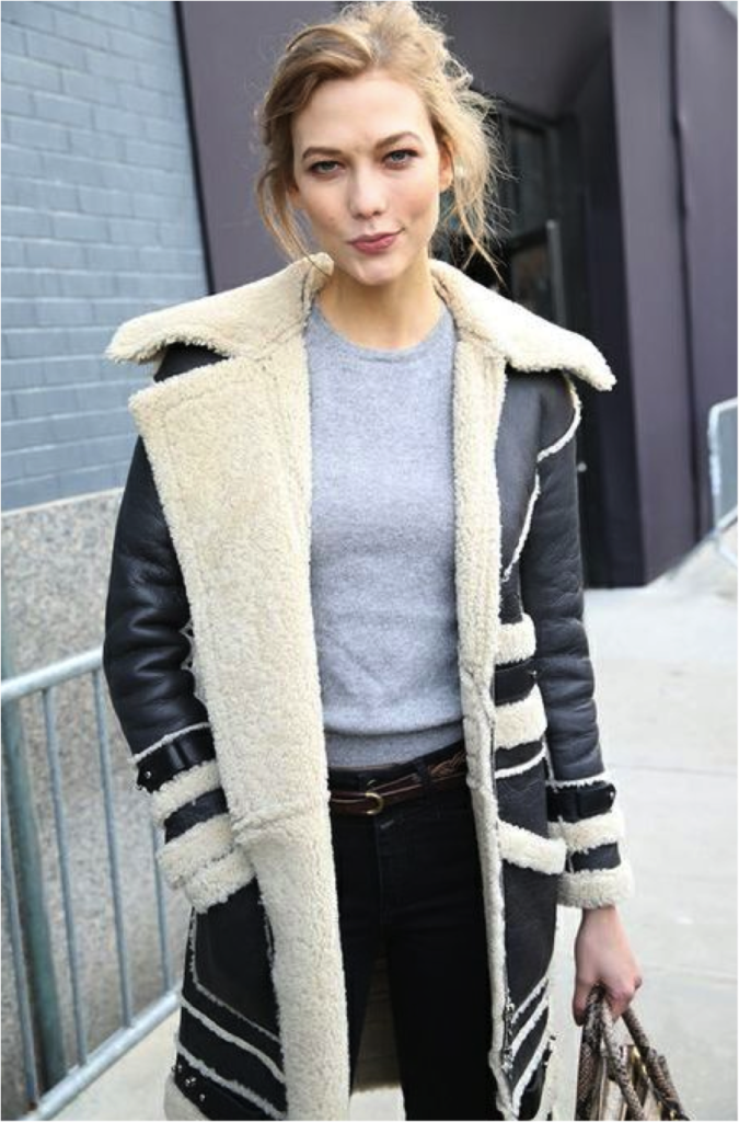 Karlie Kloss Sporting That Winter Coat at NYF 2014/2015 Photography By Saskia Lawaks
