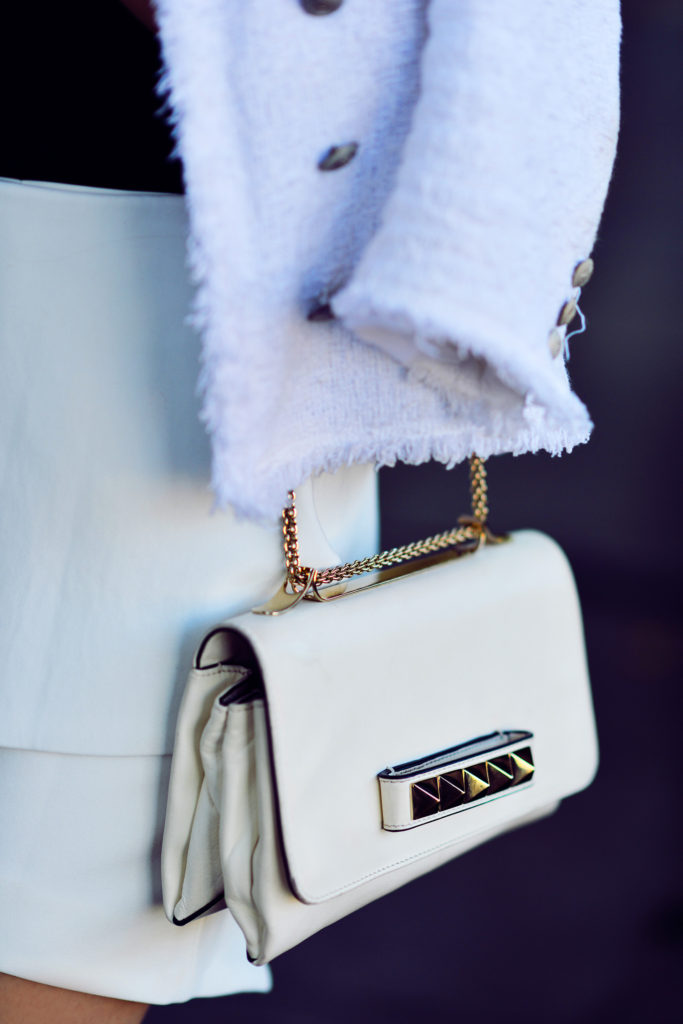 White Valentino Cross Over Handbag Via Kayture