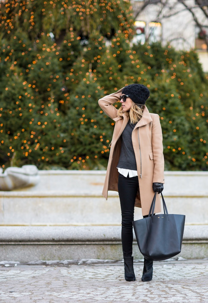 246676fb Camel Coat Outfits: Jacey Duprie is wearing a camel coat ...