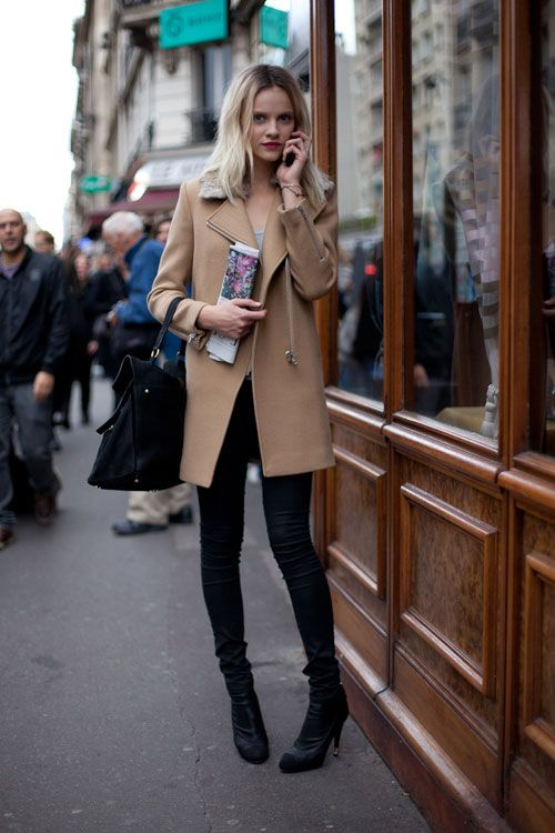 Camel Coat Street Style Paris Fashion Week Photography By Diego Zuko For Harpers Bazaar