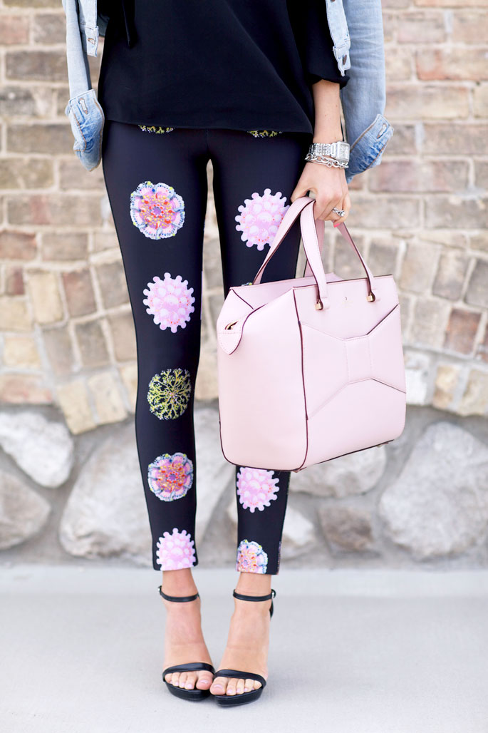 Fashion Blogger Pink Peoni In Floral Printed Leggings By Cynthia Rowley