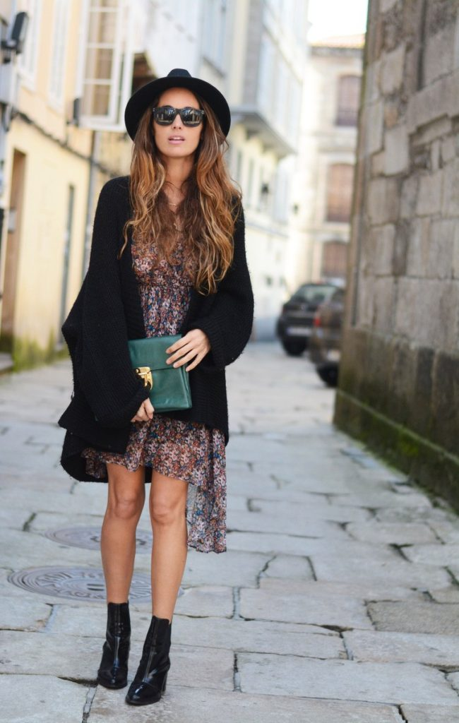 Stella Wants To Die In Floral Dress And Shoes From Zara With A Su-shi Bag