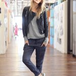 Street Style Tom Boy Look Leather Jacket And Top From The Free People