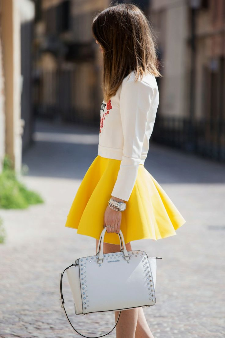 Scent Of Obsession Wearing Blouse And Skirt From Choies, And Michael Kors Bag