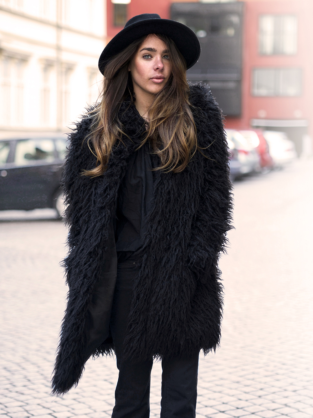 Sanna Tranlov In Coat And Hat Both From H&M