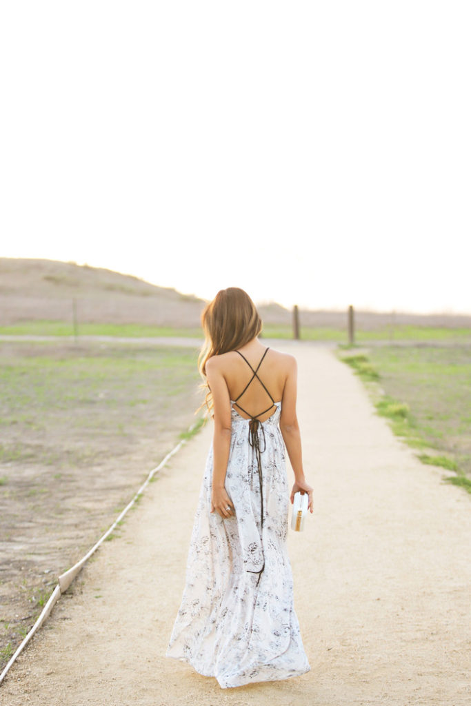 Lace And Locks Wearing Maxi Dress From Urban Outfitters