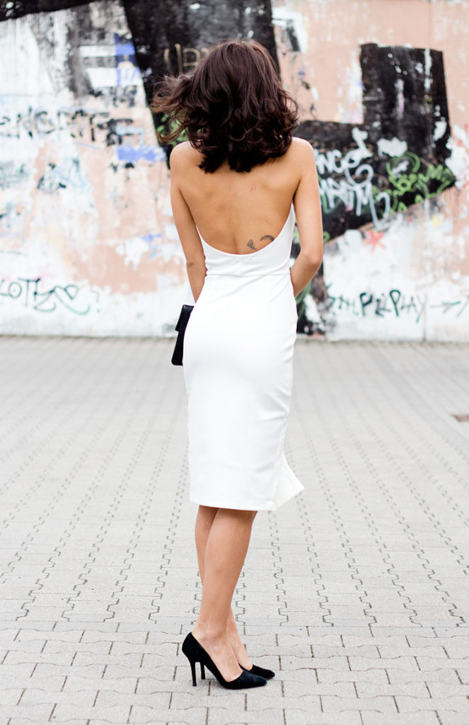 Not Your Standard Wearing White Dress From Ringuet, Bag From Zookie And Shoes From Aldo