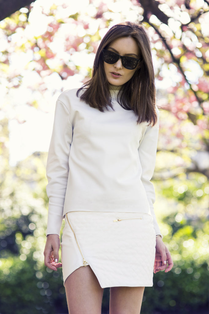 Anouska Proetta Brandon Is Wearing Asymmetrical Skirt From Ivy Revel, Top From Zara And Sunglasses From H&M