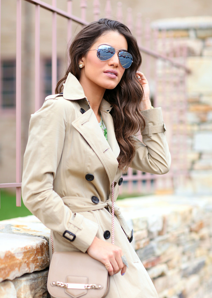 Super Vaidosa Wearing Trench Coat From Burberry And Sunglasses From Ray-Ban