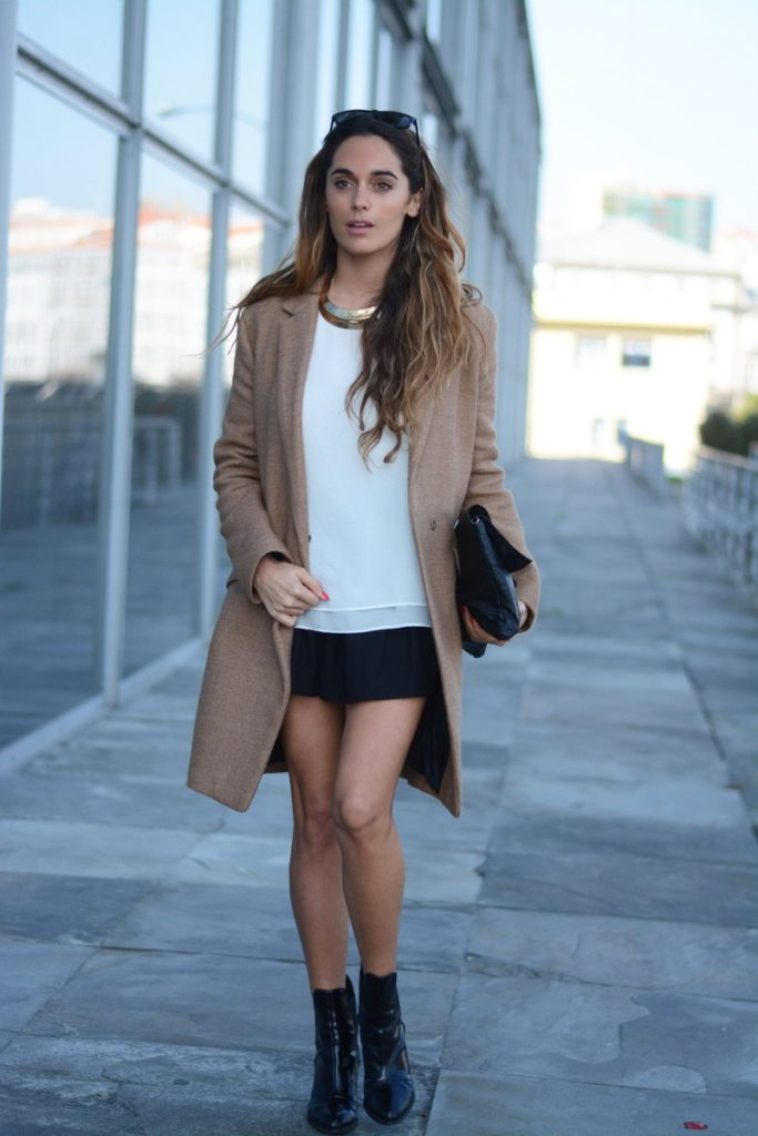 Stella Wants To Die In Camel Coat And Black Skirt
