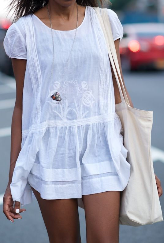 White Dress Summer Is Coming. Via
