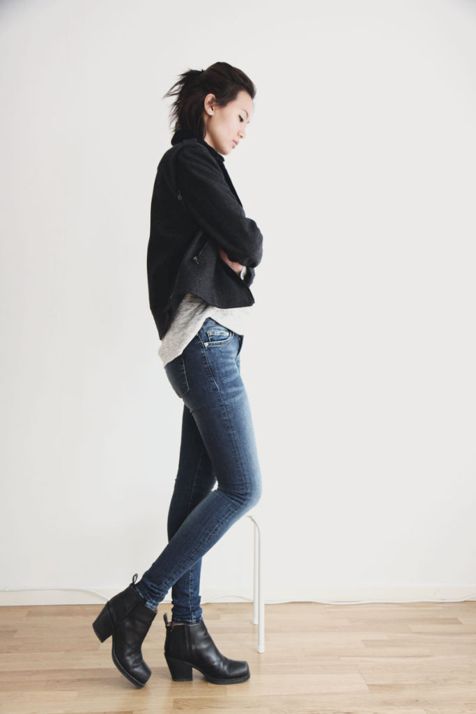 Jacket From Rag&Bone Top And Jeans From Crocker Boots From Acne Via Miuccia