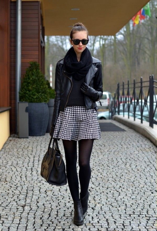 Barbora From VogueHaus Goes Monochrome Street Style March 2014