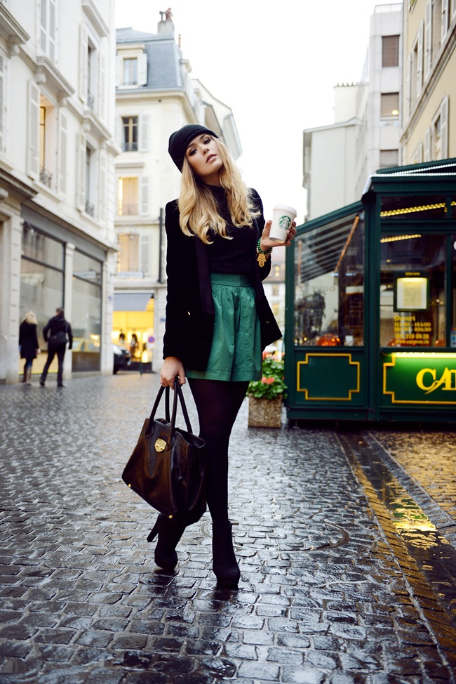 Kristina B. Black And Green Outfit Love The Bag From B-Low The Belt