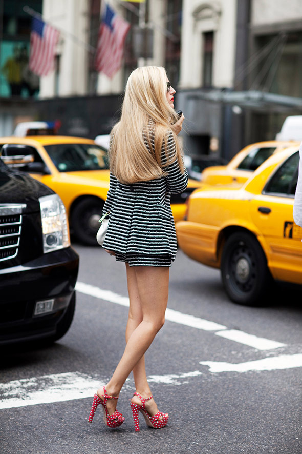 Joanna Hillman Striped Outfit From Top To Bottom Gotta Love The Shoes