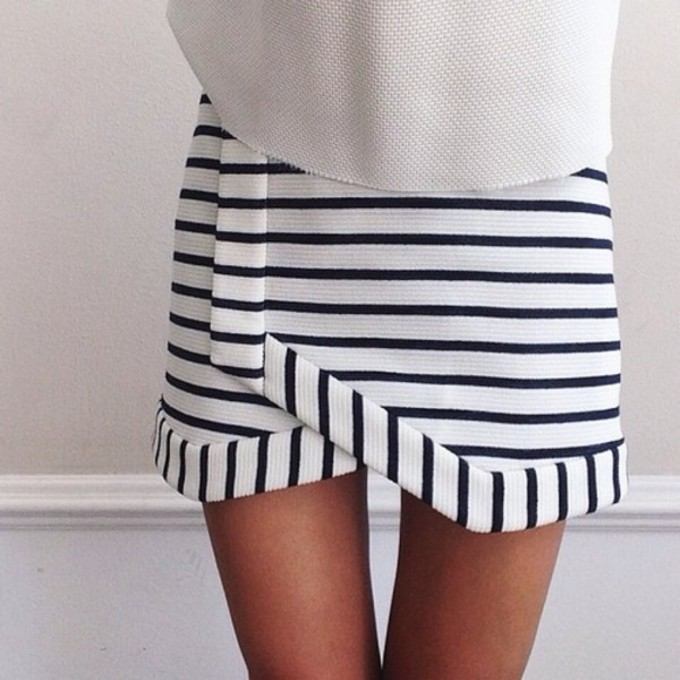 Striped Fashion Trend Camilla And Marc Stripe Navigation Skirt