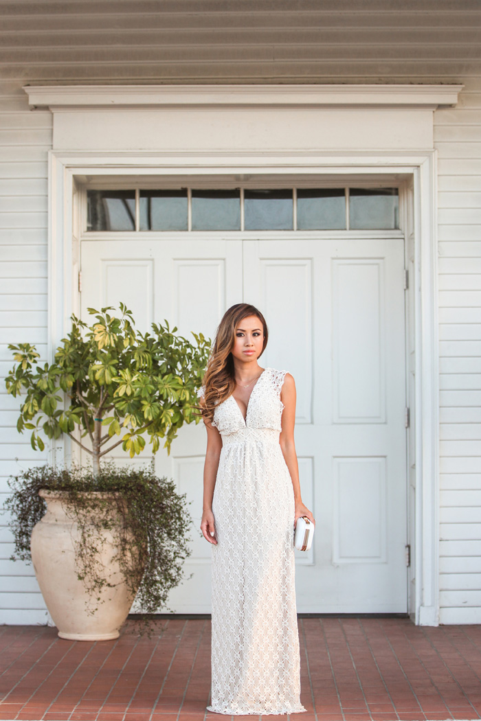 Lace And Locks Is Wearing Lace Maxi Dress From Revolve