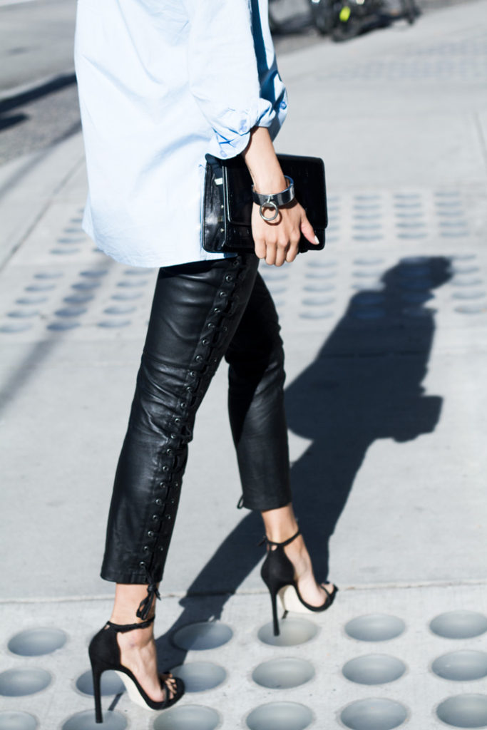 The Haute Pursuit Wearing Isabel Marant Leather Trousers