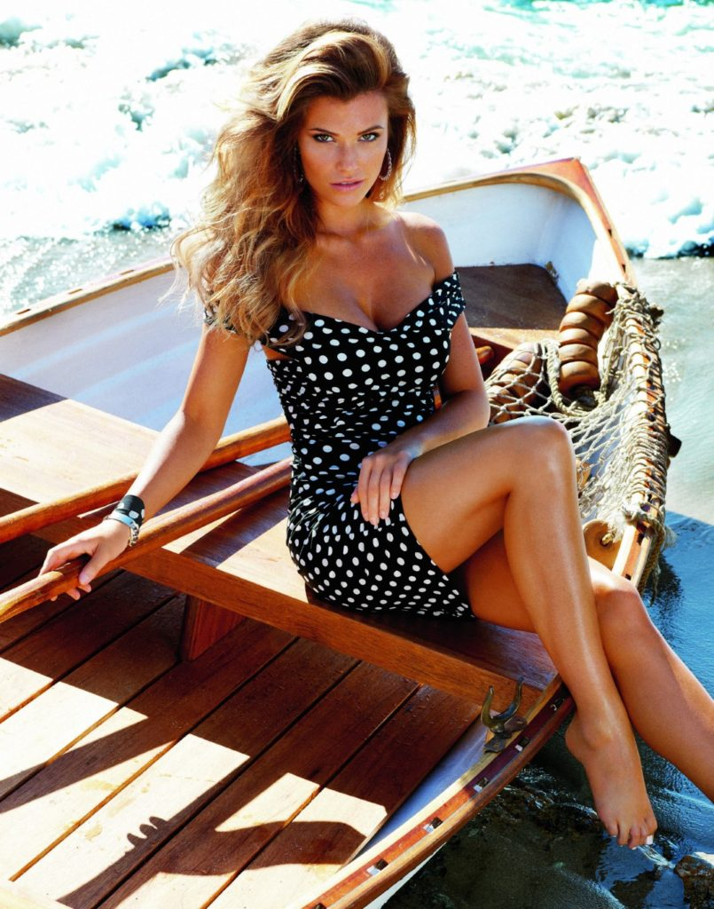 Polka Dot Dress Style Spring / Summer 2014 Guess Jeans Campaign