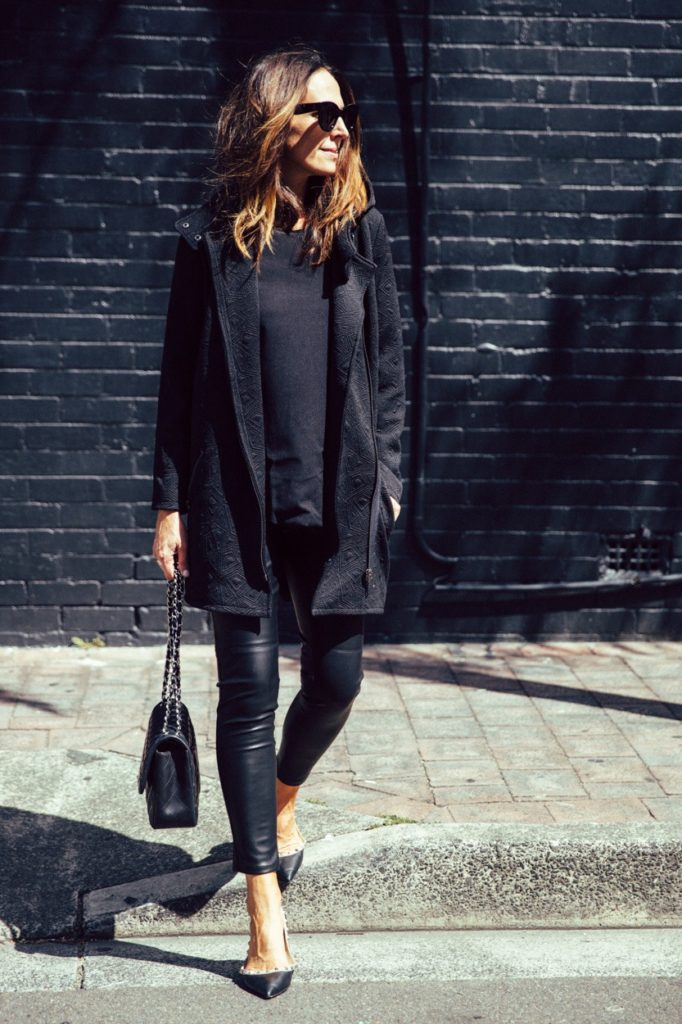 Leather Leggings And Valentino Flat Shoes Via They All Hate Us