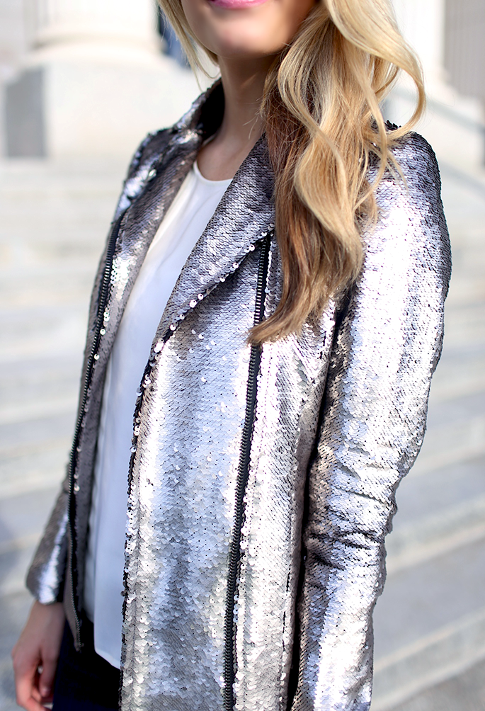 The Ivory Lane Wearing Sequin Jacket From Savvy