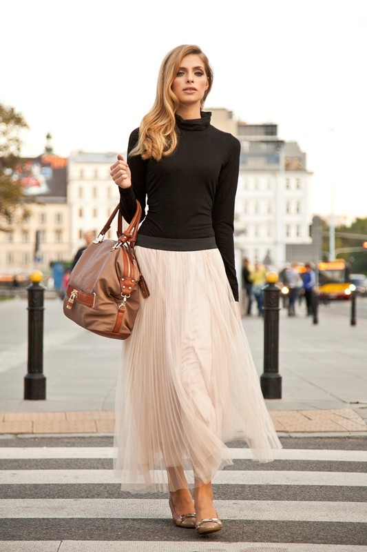 Pale Pink Tulle Skirt By Anataka