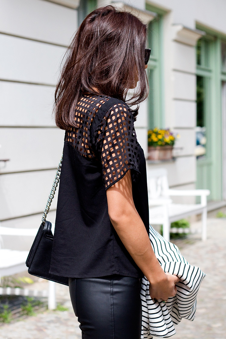 Kayla Seah Is Wearing A Black Eyelet Top From May And The Trousers Are From Little Lace