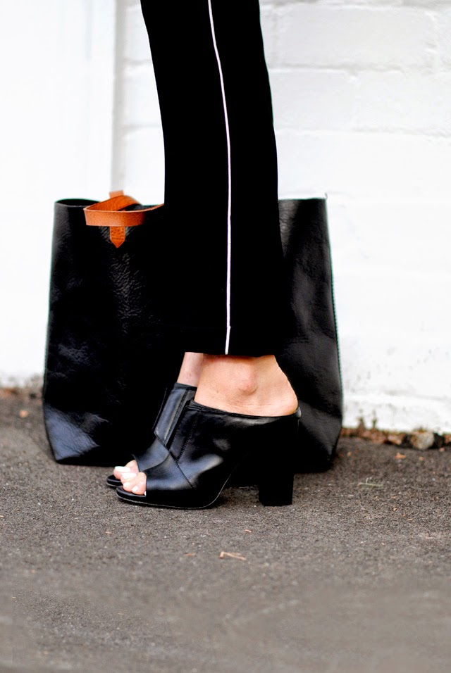 The Chronicles Of Her Is Wearing Mules From Pour La Victoire And The Leather Tote Is From Madewell
