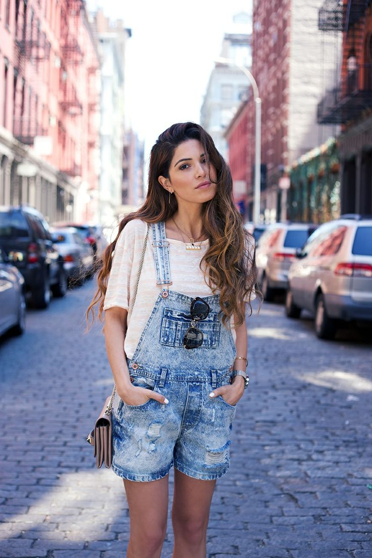 How To Wear Denim Overalls In Spring Summer 2014 Just