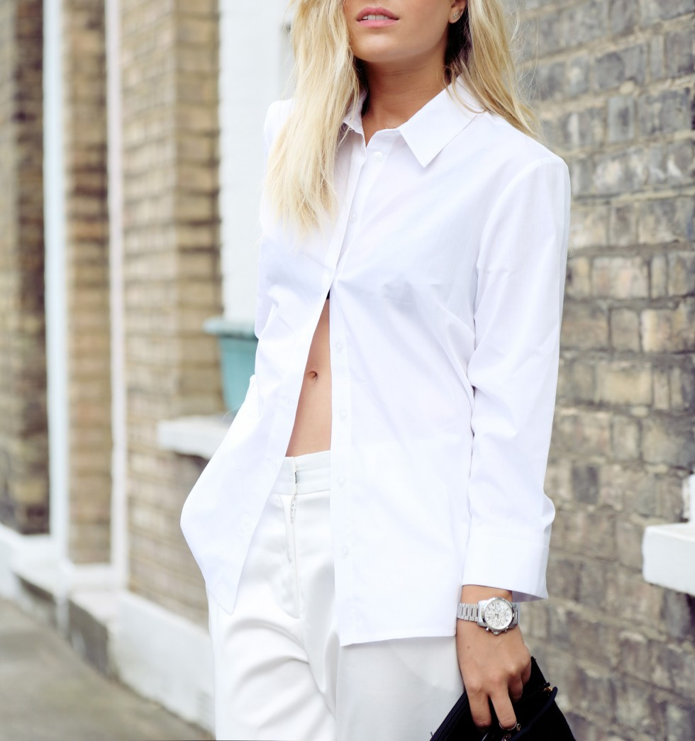 Isabella Thordsen is wearing all white, shirt from ASOS